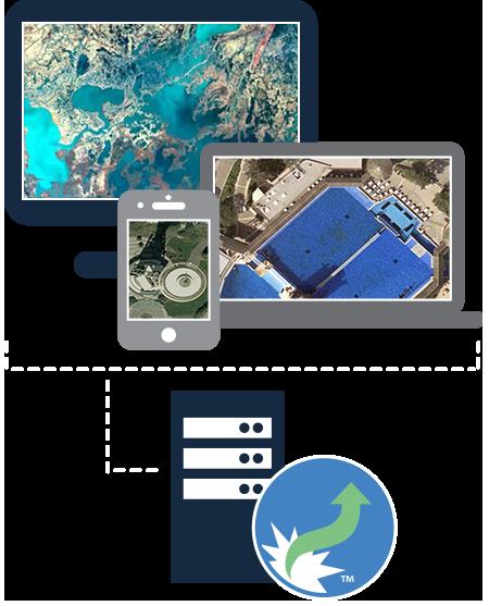 Daten mit hoher Auflösung überallhin liefern