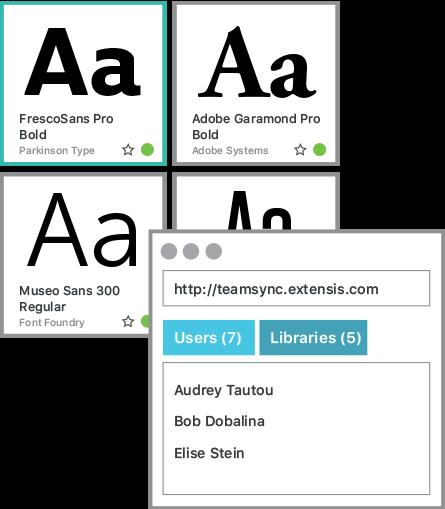 Schriften innerhalb Ihres Teams synchronisieren und gemeinsam verwenden - ganz einfach