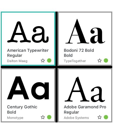 Suitcase Fusion Fonts